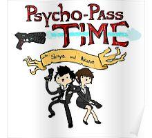 Psycho Pass Time - Shinya and Akane Poster
