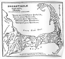 Vintage Map of Cape Cod (1890)  Poster