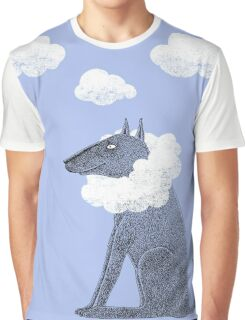 Head in Clouds Dreamer Dog Graphic T-Shirt