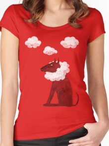 Head in Clouds Dreamer Dog Women's Fitted Scoop T-Shirt