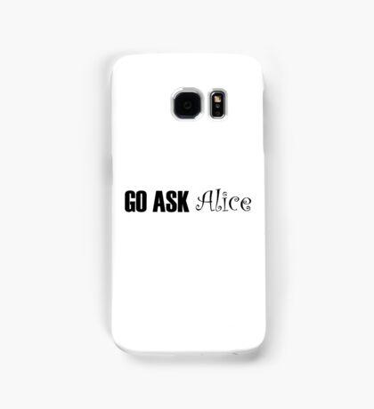 Jefferson Airplane White Rabbit Music Quotes Samsung Galaxy Case/Skin