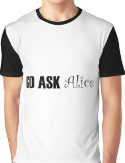 Jefferson Airplane White Rabbit Music Quotes Graphic T-Shirt