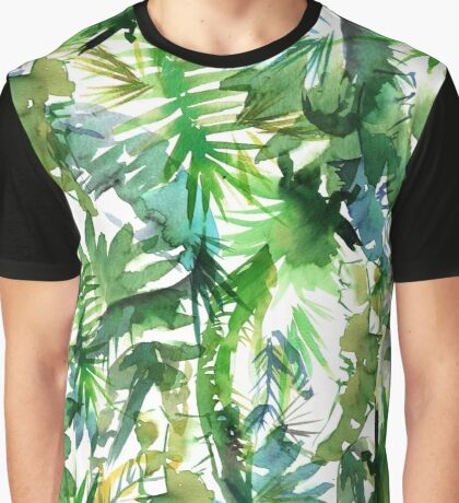 Vibe of the Jungle Green Graphic T-Shirt
