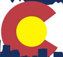 Colorado Flag (cityscape and mountain range) Sticker
