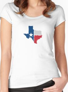 Texas State Flag Women's Fitted Scoop T-Shirt