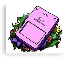 PS2 Memory Card   Canvas Print