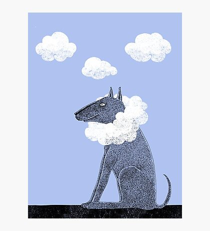 Head in Clouds Dreamer Dog Photographic Print