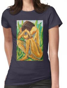 GIRL IN THE GRASS - NESCI Womens Fitted T-Shirt