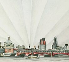 Dynamic London from the South Bank by Tiffany Budd