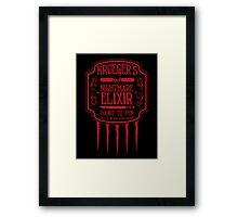 Krueger's Nightmare Elixir Framed Print