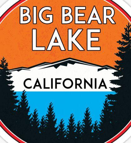 BIG BEAR LAKE CALIFORNIA REPUBLIC SKIING SKI LAKE BOAT BOATING BEAR SNOWBOARD Sticker