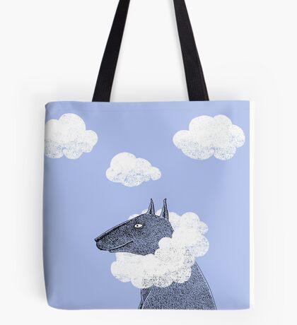 Head in Clouds Dreamer Dog Tote Bag