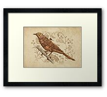 Steampunk Songbird  Framed Print