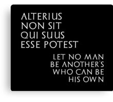 Let no man be another's - inverted Canvas Print