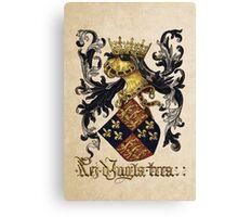 King of England Coat of Arms - Livro do Armeiro-Mor Canvas Print