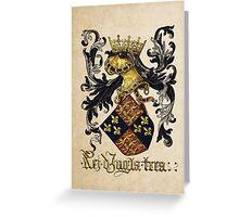 King of England Coat of Arms - Livro do Armeiro-Mor Greeting Card