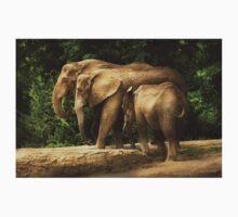 Animal - Elephant - Tight knit family One Piece - Short Sleeve