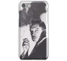 Original Charcoal Drawing of Vincent Price in The Bat iPhone Case/Skin