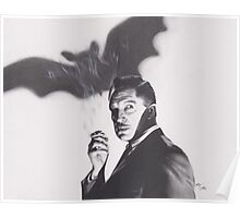 Original Charcoal Drawing of Vincent Price in The Bat Poster