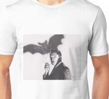 Original Charcoal Drawing of Vincent Price in The Bat Unisex T-Shirt