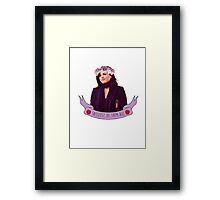 Queen of Sass Framed Print