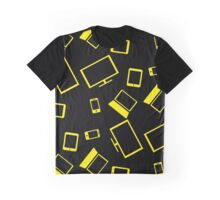 pattern with smart gadgets on black Graphic T-Shirt