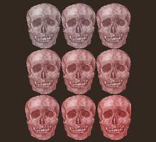 Red Skeleton Grid Unisex T-Shirt