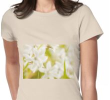 Ornithogalum nutans white flowers detail  Womens Fitted T-Shirt