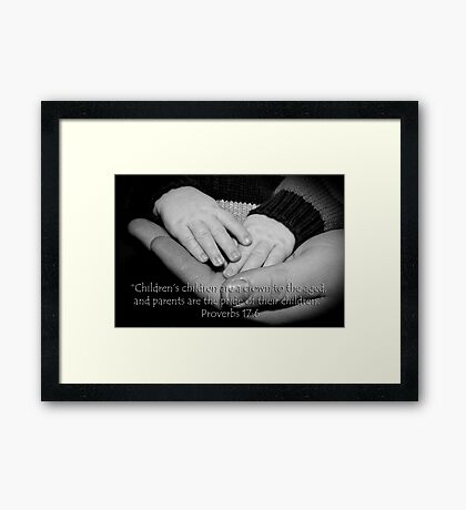 Crown to the aged Framed Print