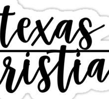 Texas Christian Sticker