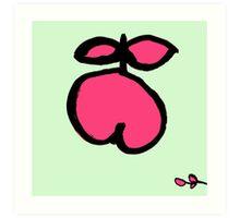 fröhlicher Apfel pink Art Print