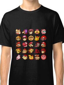 Super Smash Bros. Melee Red Stock Icons Classic T-Shirt