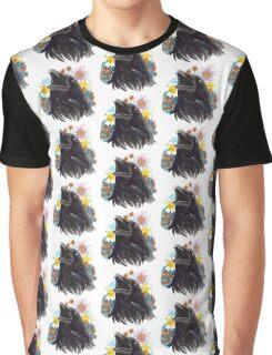 Floral Raven Graphic T-Shirt