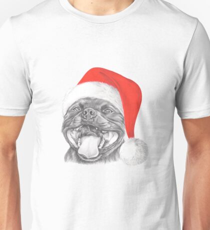 Staffie Smile Christmas - Staffordshire Bull Terrier Unisex T-Shirt