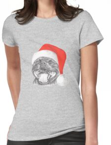 Staffie Smile Christmas - Staffordshire Bull Terrier Womens Fitted T-Shirt