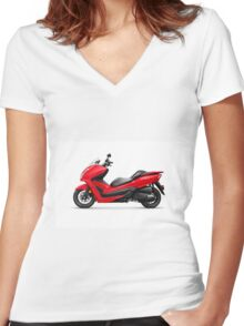 Honda Forza ABS motor scooter art photo print Women's Fitted V-Neck T-Shirt