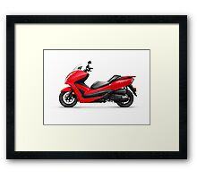 Honda Forza ABS motor scooter art photo print Framed Print