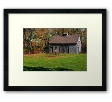 Old Barn & Rusty Farm Implement Framed Print
