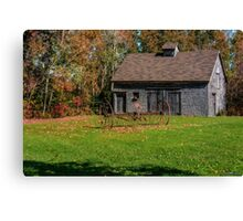 Old Barn & Rusty Farm Implement Canvas Print