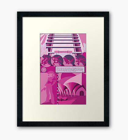 Saffron city Framed Print
