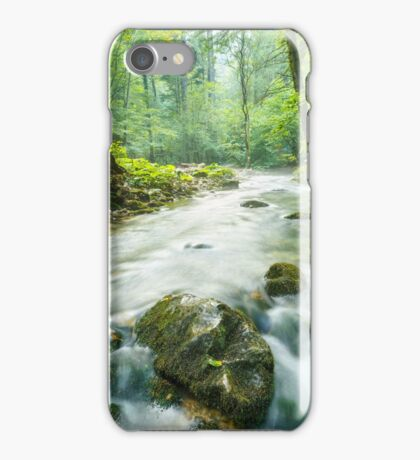 Morning landscape with river and forest iPhone Case/Skin