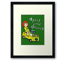 April and Donnie Framed Print
