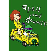April and Donnie Photographic Print