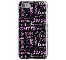 Breast Cancer - Black iPhone Case/Skin