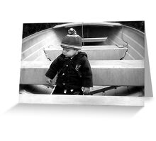 The Little Captain Greeting Card
