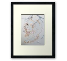 Quick sketch with watercolor. Framed Print