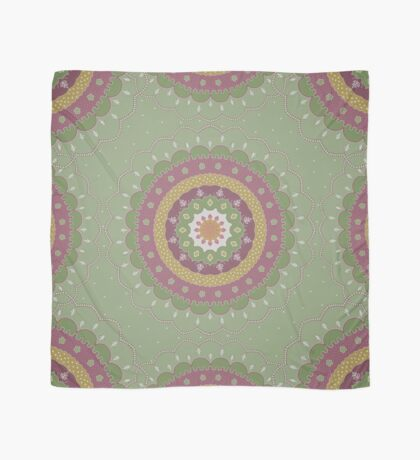 Green Pink Yellow Mandala Design Scarf