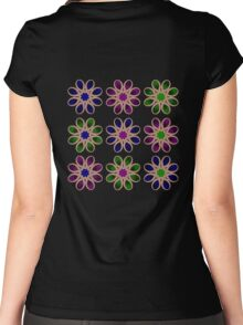 Fading Foot Flowers Women's Fitted Scoop T-Shirt