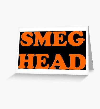 Red Dwarf Smeg Head Greeting Card