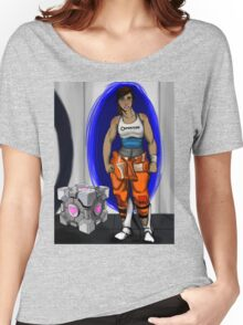 Chell and Her Companion Cube Women's Relaxed Fit T-Shirt